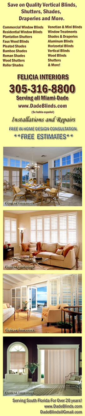 Miami Blinds Shades Drapes Shutters MIAMI WINDOW TREATMENT COMPANY VERTICALS  BLINDS [MIAMI BLINDS] WOOD BLINDS SHADES SOUTH FLORIDA WINDOW COVERING SPECIALISTS